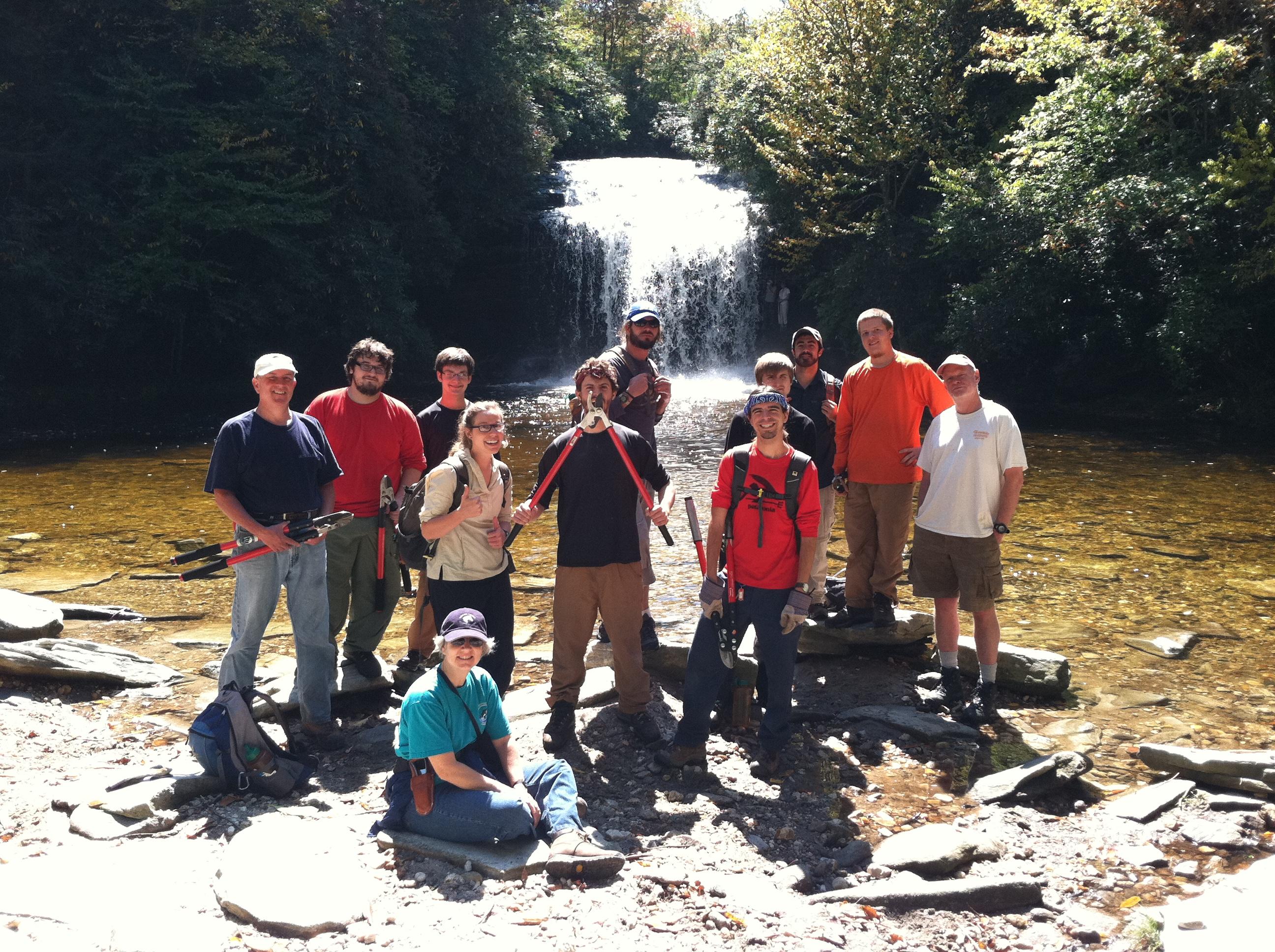 Volunteers at Schoolhouse Falls