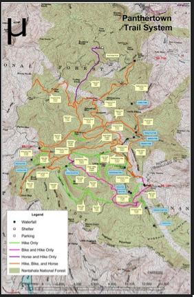 Panthertown Trail System Map