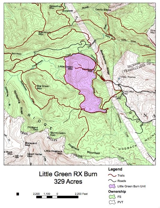 Little Green RX Burn Map