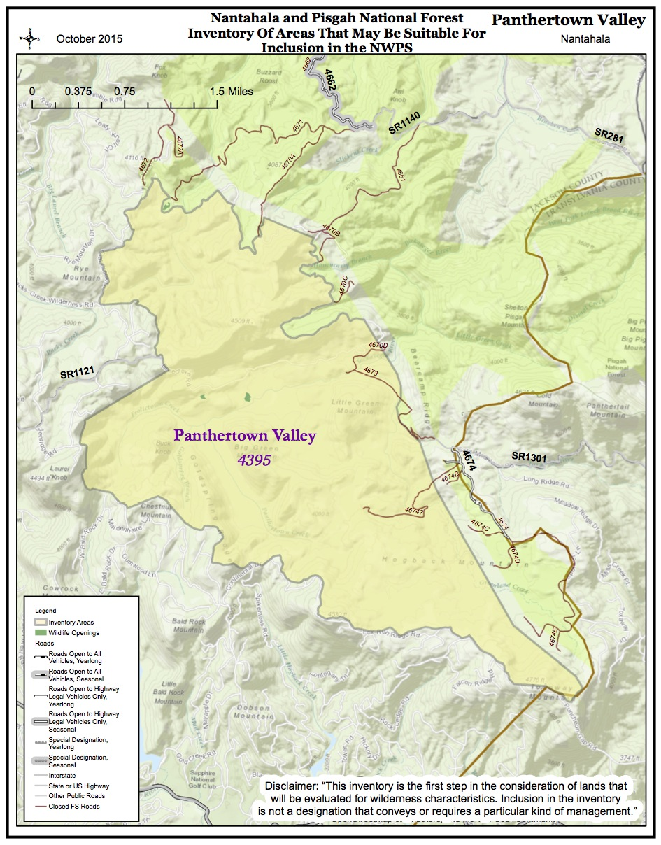 PANTHERTOWN VALLEY NWPS MAP OCT 2015