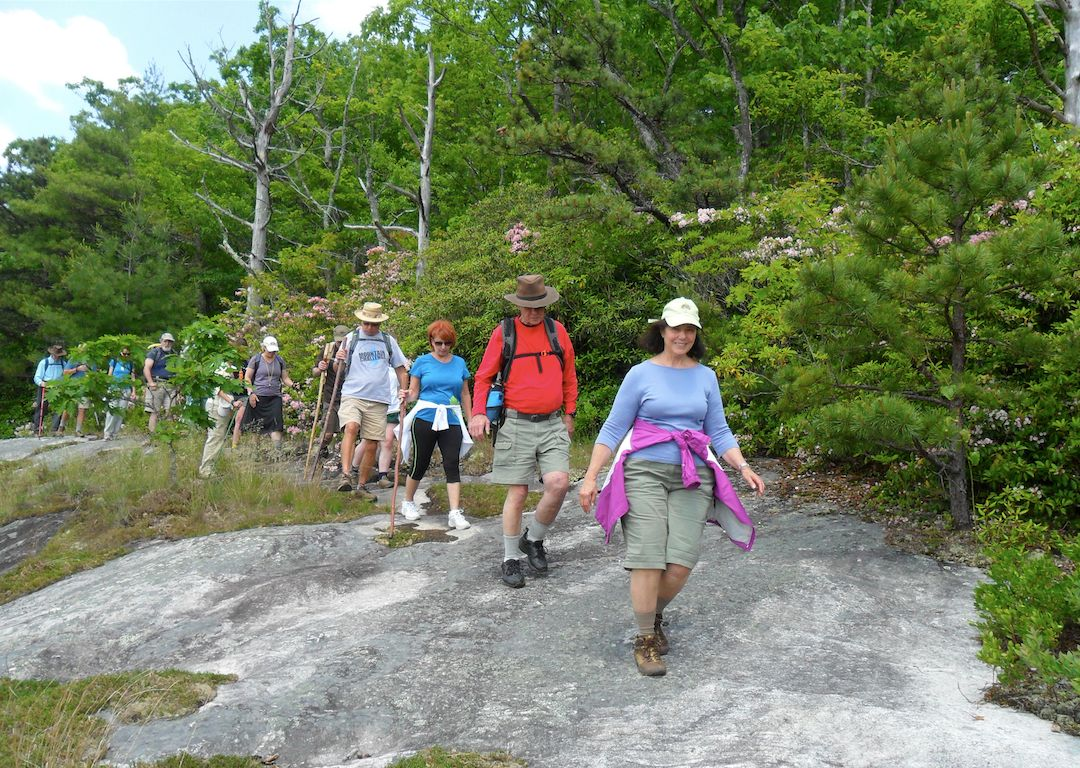 National Trails Day Hikers in Panthertown